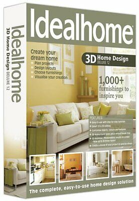 Ideal Home 3D Home Design Deluxe 12 (pc-dvd) NEW SEALED