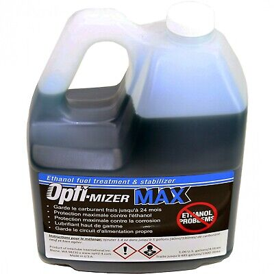 Opti-Mizer MAX 1 Gallon Ethanol Fuel Treatment 24 Mo. Stabilizer Treats 485 Gal.
