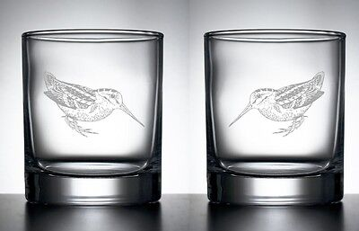 Engraved Pair Whisky Glasses Shooting Trophy Gift Snipe Game Fieldsports