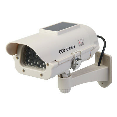 Silverline Tools - Solar-Powered Dummy CCTV Camera with LED - Solar-Powered