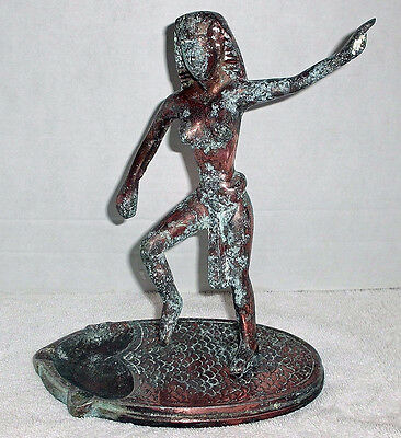 Rare Vintage Egyptian Statue With Ashtray, Maybe Very Few Of A Kind.