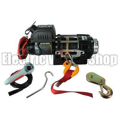 Warrior Ninja 3500 12v Electric Winch with Synthetic Rope