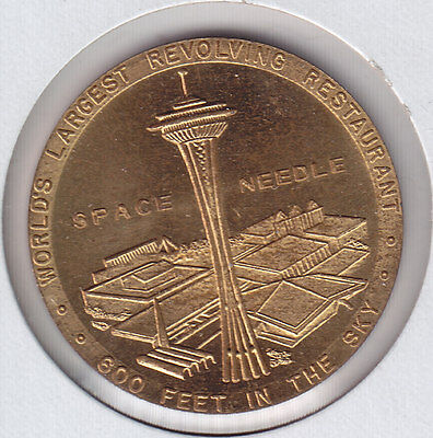 1962 Seattle World's Fair Official Medal - Space Needle