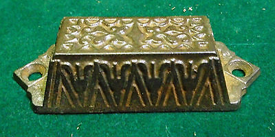 Beautiful Vintage Eastlake Drawer / Bin Pull - Cast Steel  (4912)