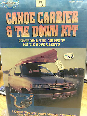 Canoe Carrier & Tie Down Kit w/ No Tie Rope Cleats