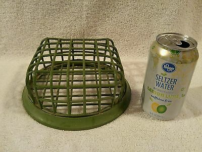 Huge Vintage Green Vogue # 76 Beagle Mfg Metal Flower Arrangement Frog Cage