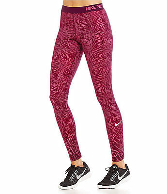Nike Pro Women Hyperwarm Snow Dri-Fit Training Tights Mulberry #685125-563-Nwt