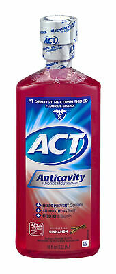 NEW Act Anticavity Fluoride Mouthwash Cinnamon 18 OZ pack of 6