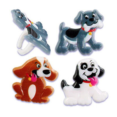 Puppy Dog Cupcake Rings Party Favors Decorations Supplies cake toppers 24