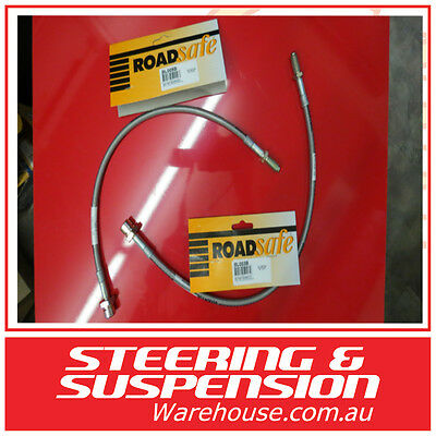 """TOYOTA LANDCRUISER 80 100 SERIES FRONT AND REAR  Braided Brake Lines 3-4 """" LIFT"""