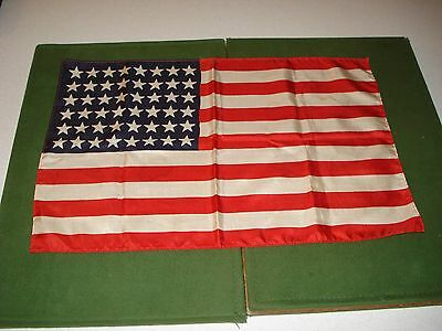 """United States Silk Flag, 11"""" X17"""" Carried In Gi's Breast Pocket, Nice"""