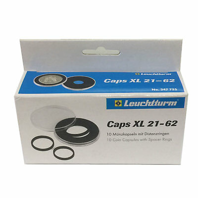 Lighthouse CAPS XL 21-62mm Adjustable Coin Capsules - 10 Pack