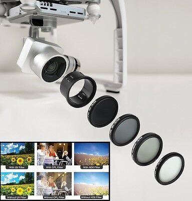 4-Pc Filter Set With Accessory Kit For DJI Phantom 3 Series Drone