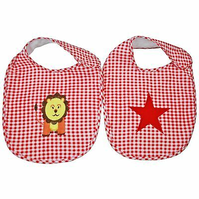LACHLAN RED LION STAR VINTAGE COTTON BABY INFANT BIB - Set of 2 **FREE DELIVERY*
