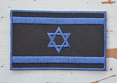 ISRAEL National Flag Black & Blue SPECIAL UNIT Patch