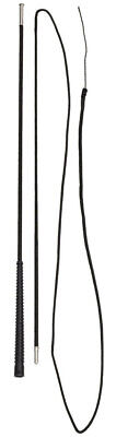Zilco Horse Lunge Whip 2 pc with Rubber pimple Grip for stability Black 180cm