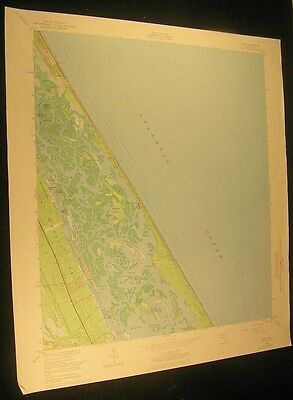 Ariel Florida Mosquito Lagoon Indian R 1972 vintage USGS original Topo chart map
