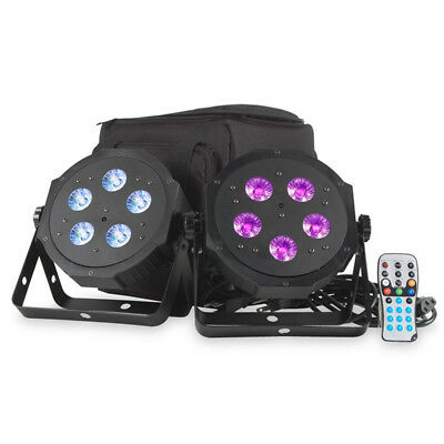 American DJ ADJ VPar Pak RGBA Wash Light or uplight 2 x Par Can + Bag + Remote