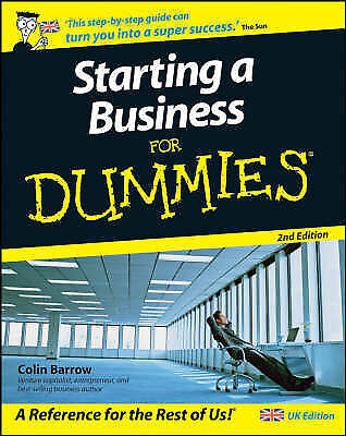 Starting a Business For Dummies, 2nd Edition, Barrow, Colin Paperback Book