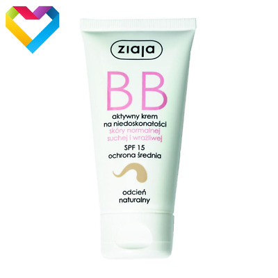 ZIAJA BB FACE CREAM FOR NORMAL DRY SESITIVE SKIN SPF15 - NATURAL SHADE 1224 50ml