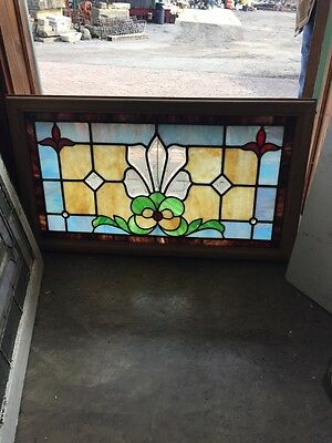 Sg 463 Antique Beveled Center Transom With Jewels