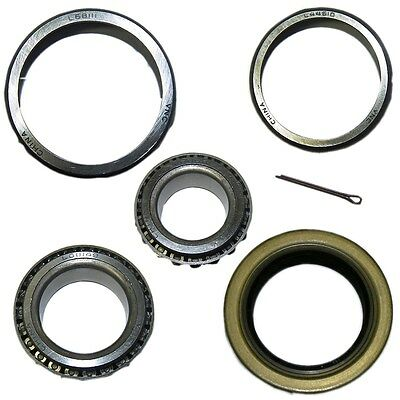 Trailer Bearing Kit for 3500 Lb Axle -Includes Bearings, Races, Seal, Cotter Pin