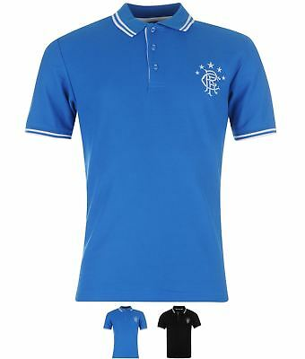 OCCASIONE Rangers FC Tipped Polo Mens Royal