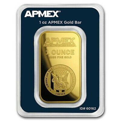 1 oz APMEX Gold Bar - Tamper Evident Packaging - SKU #60162