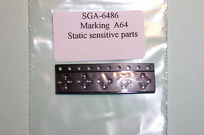 SGA-6486 MMIC Amplifier DC-4.5Ghz Qty 5  NOS Sirenza parts. Can replace ERA-5SM