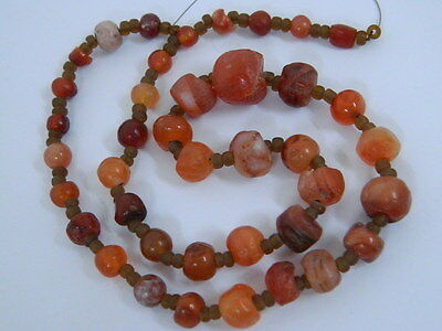 Ancient Carnelain Beads Strand Roman 200 BC  #BD15126