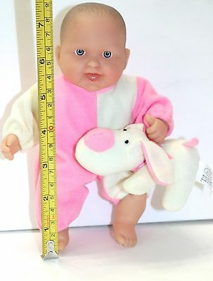 Dolls By Berenguer Rubber And Cloth Baby Doll And Dog