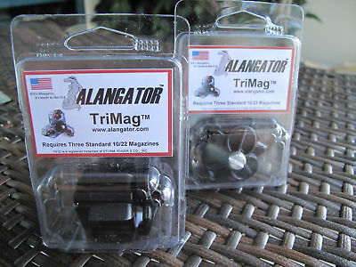 2 Pack Alangator 10/22 10 22 Tri Mag Ruger Magazine Box Made In the USA!