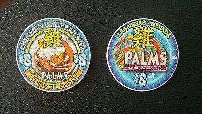 888 four queens las vegas chinese new year of the rooster $8 casino chip unc