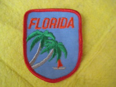 "Vintage State Of Florida Patch 2 5/8"" X 3 1/4"""