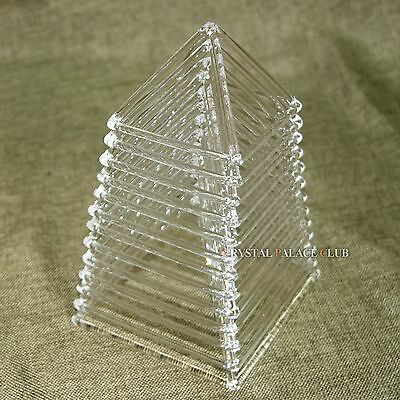 a Chakra Set of 12 pcs of Quartz Crystal Singing Pyramids Crystal Singing Bowl