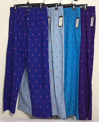 Polo Ralph Lauren Men's Pajama Lounge Pants Pony All Over Sz  M L XL NWT $42