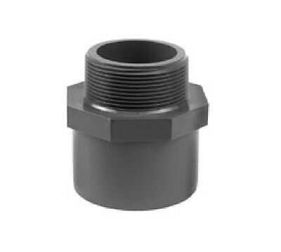 "PVC VDL 32 40mm x 3/4"" Male Thread Joiner Solvent Weld Marine Tropical Aquarium"