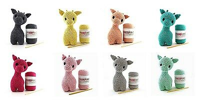 Hoooked DIY Amigurumi Crochet Kit Ziggy Giraffe Eco Barbante
