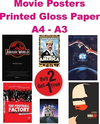 CLASSIC MOVIES Posters Photo Print Film Cinema Home Wall  Deco Art A3 A4 A5