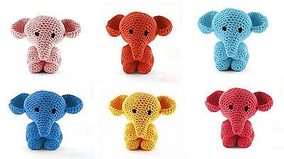 Hoooked DIY Crochet Kit Maxigurumi Elephant Mo 30cmTall, 2 Yarns, Pattern, Hook