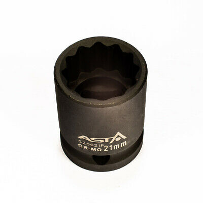 "Heavy Duty 78mm Length 545619P 19mm 1//2/"" Dr Long Impact Socket 12 Point 12PT"