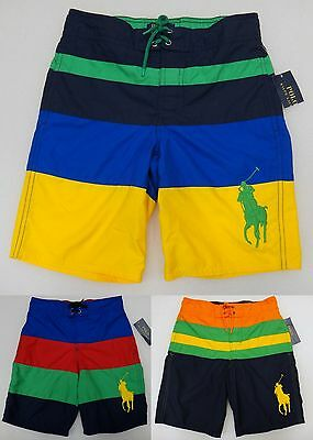 Polo Ralph Lauren Big Pony Boy's Swim Trunks Board Shorts Swimming Bathing Suit