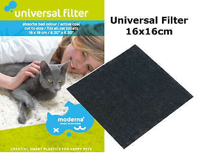 Cat Flip Litter Tray Filter Active Coal Box Hooded Pan Toilet Loo Carbon