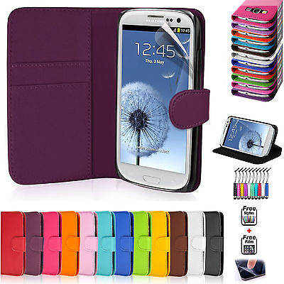 PU LEATHER Wallet FLIP Phone Case COVER FOR SAMSUNG GALAXY S3 I9300