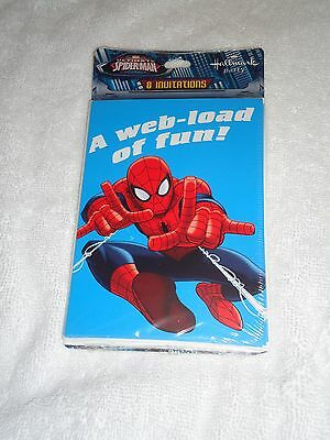 New Marvel Ultimate Spider-Man Birthday Party Invitations A Web-Load Of Fun