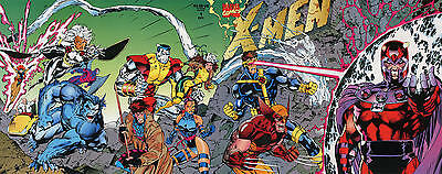 X-Men #1 Oct 1991 1st Issue Marvel Fold Out Cover Jim Lee Double Gate Fold