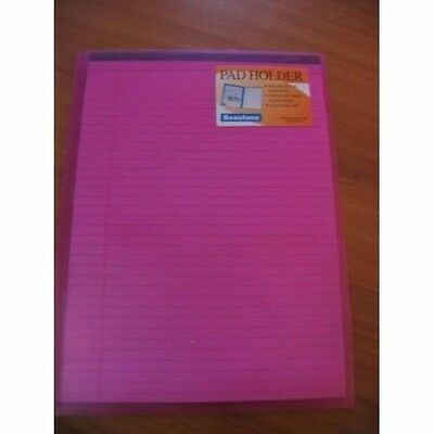 BEAUTONE FROSTED PINK PURPLE PVC FOLDER  HOLDER with A4 WRITING NOTE PAD 17D006