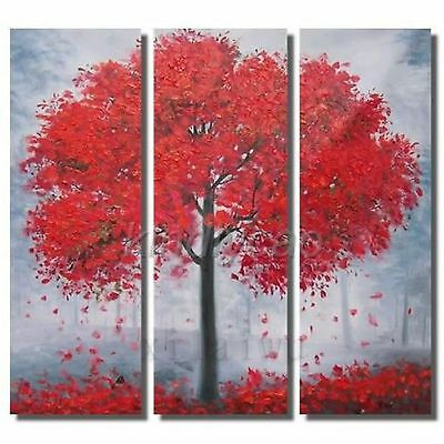 Framed Hand Painted Oil Wall Art On Canvas Ready To Hang - Autumn Abstract