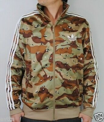 %adidas Adi Firebird Camo Brown Army Track Top Jacket M L Xl
