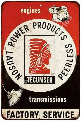 Tecumseh Factory Service Vintage Look Reproduction Metal Sign 8x12 8122344